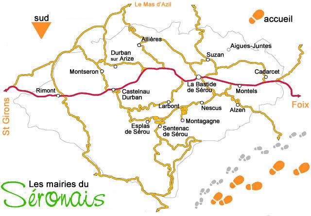 Carte de l'association Espace du Séronais